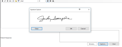 Add Signature to via Customization to various TheraScribe